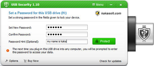 password protect usb drive